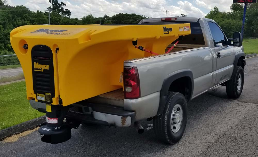 Meyer Crossfire Spreader in Truck Bed
